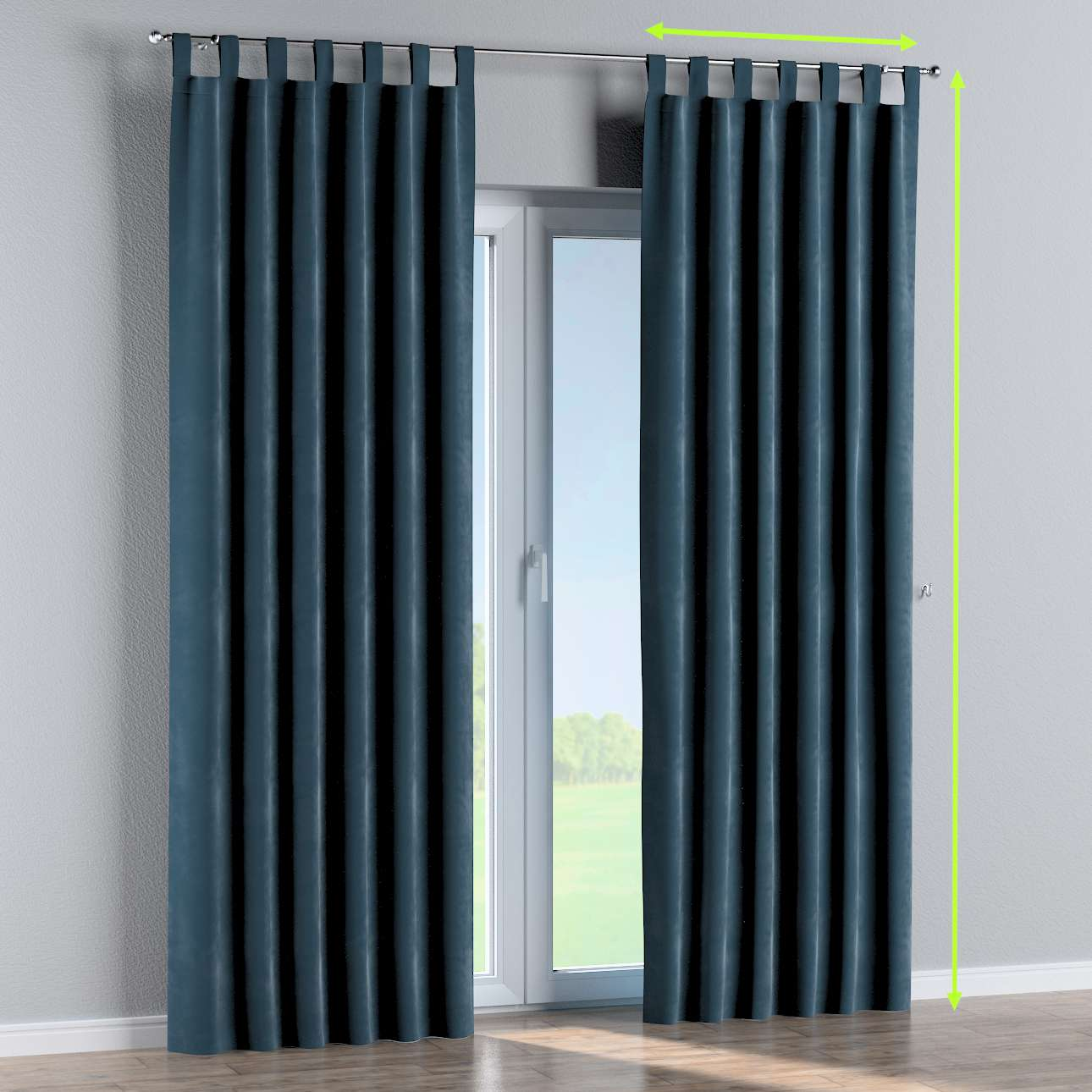 Tab top curtains in collection Velvet, fabric: 704-16
