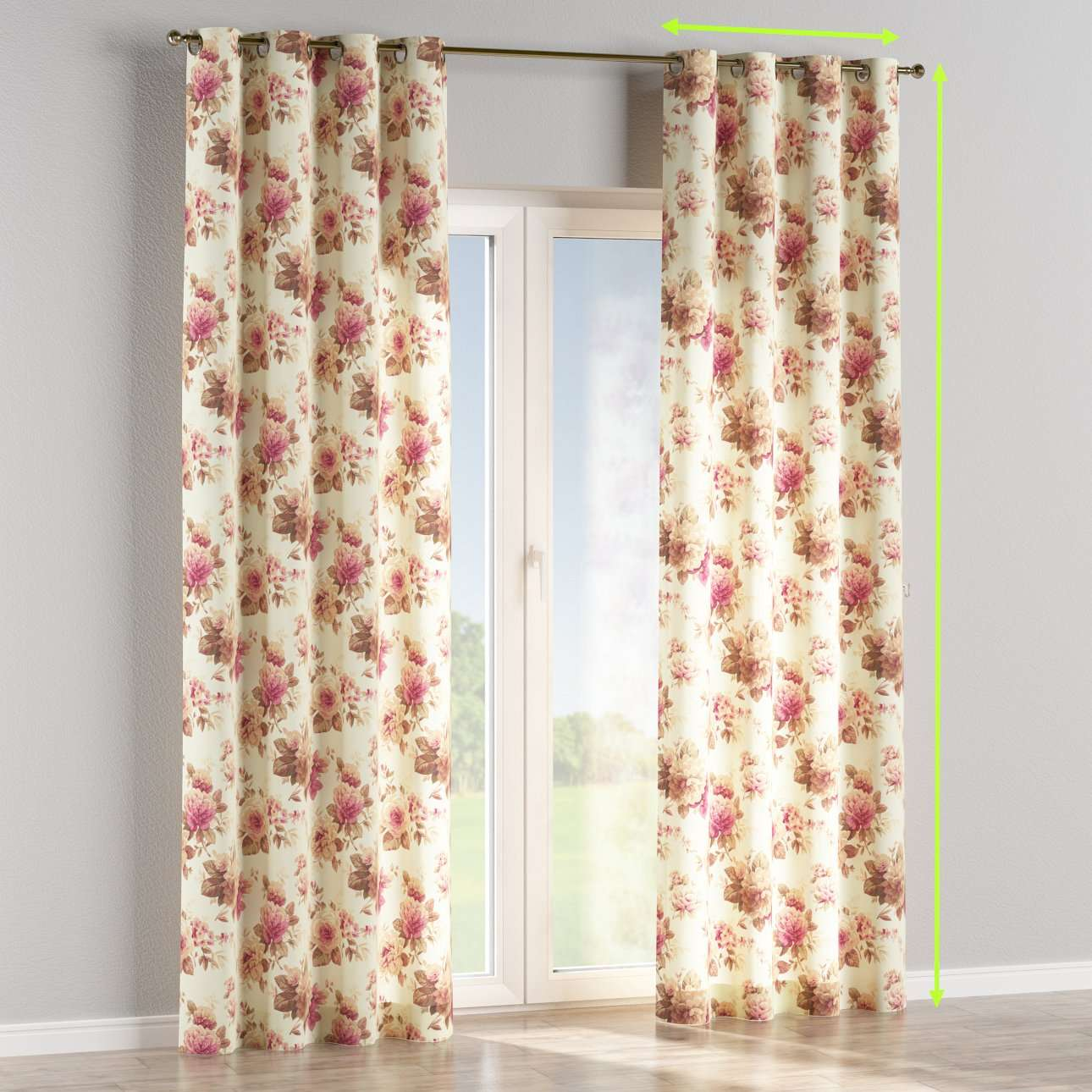 Eyelet curtain in collection Londres, fabric: 141-06