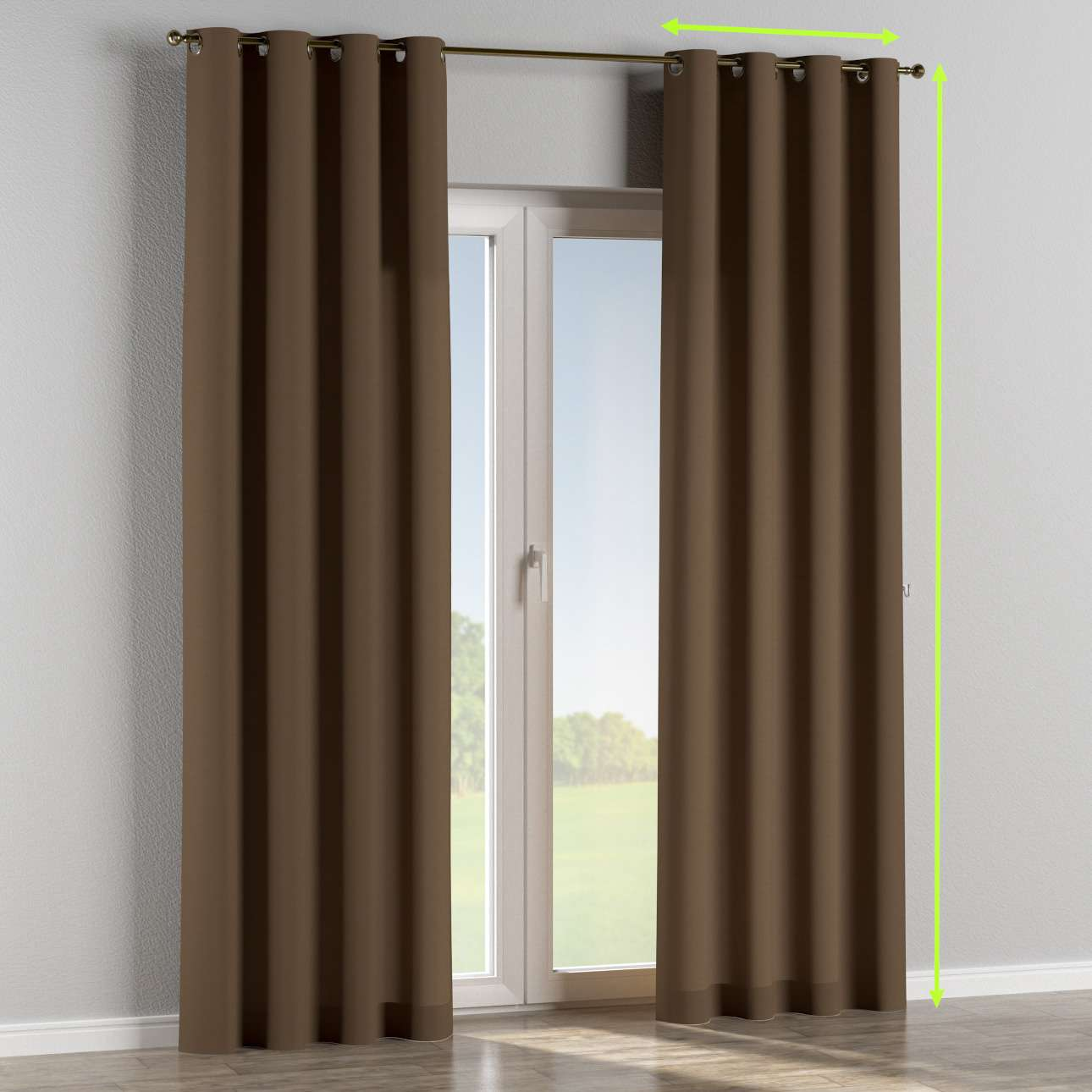 Eyelet curtain in collection Panama Cotton, fabric: 702-02
