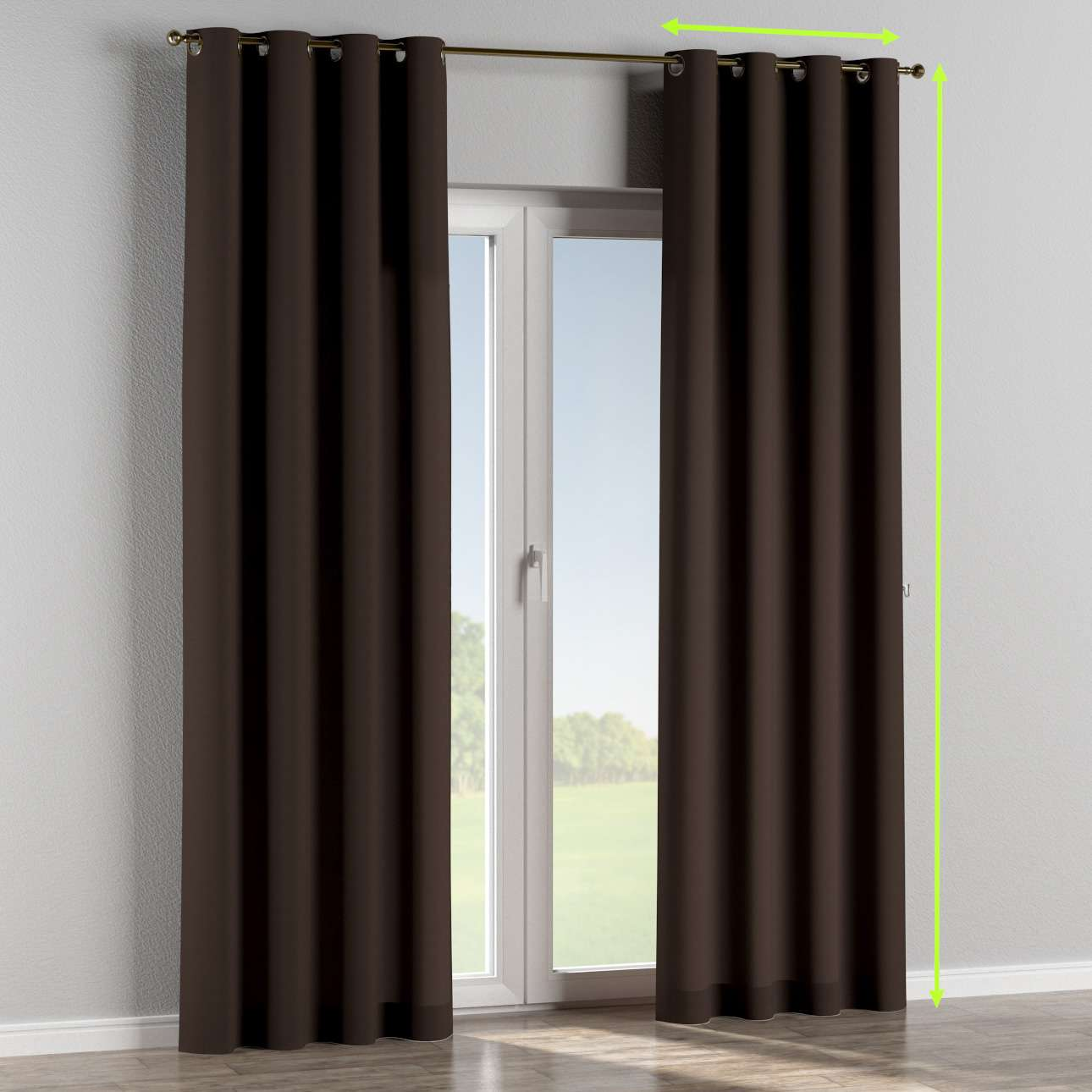 Eyelet curtain in collection Panama Cotton, fabric: 702-03