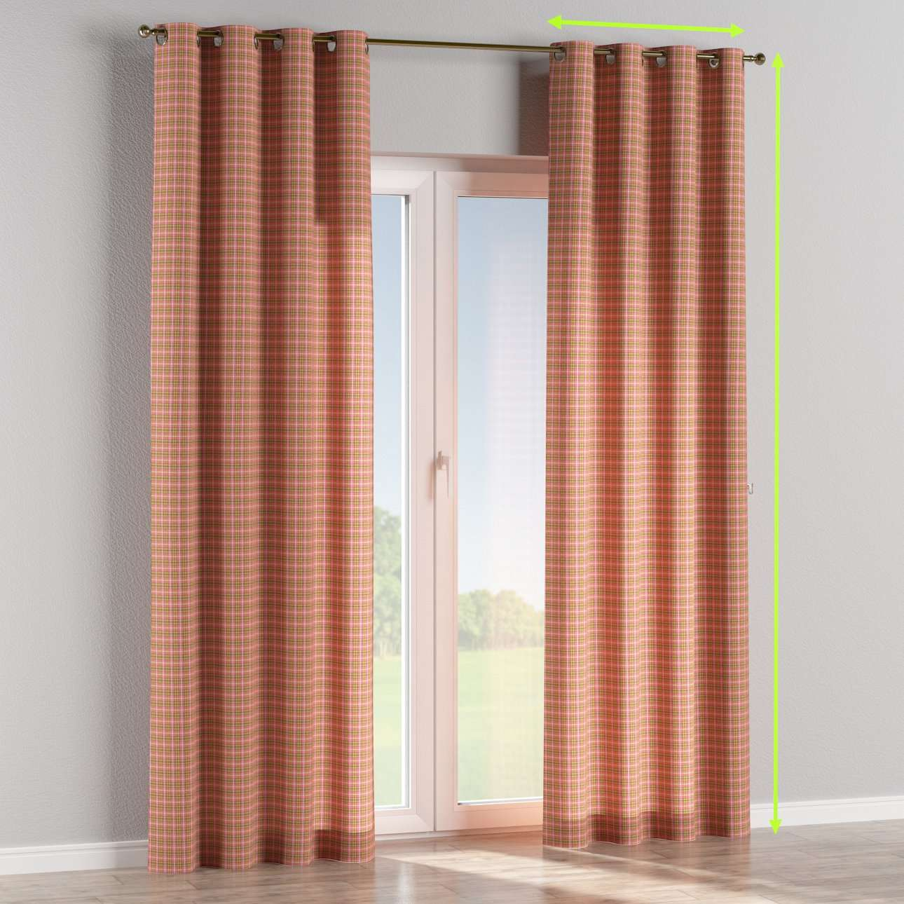 Eyelet curtains in collection Bristol, fabric: 126-25