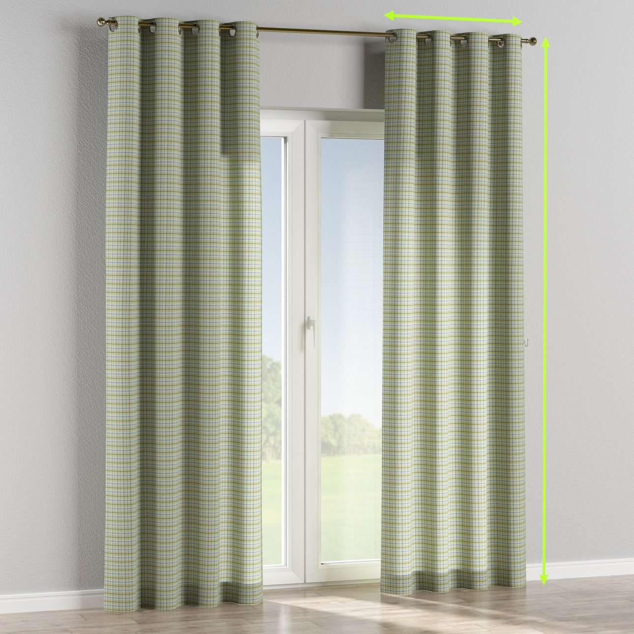 Eyelet curtains in collection Bristol, fabric: 126-69