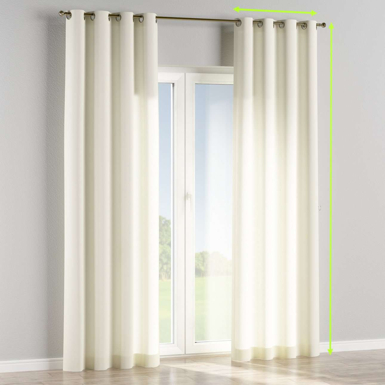 Eyelet curtains in collection Jupiter, fabric: 127-00
