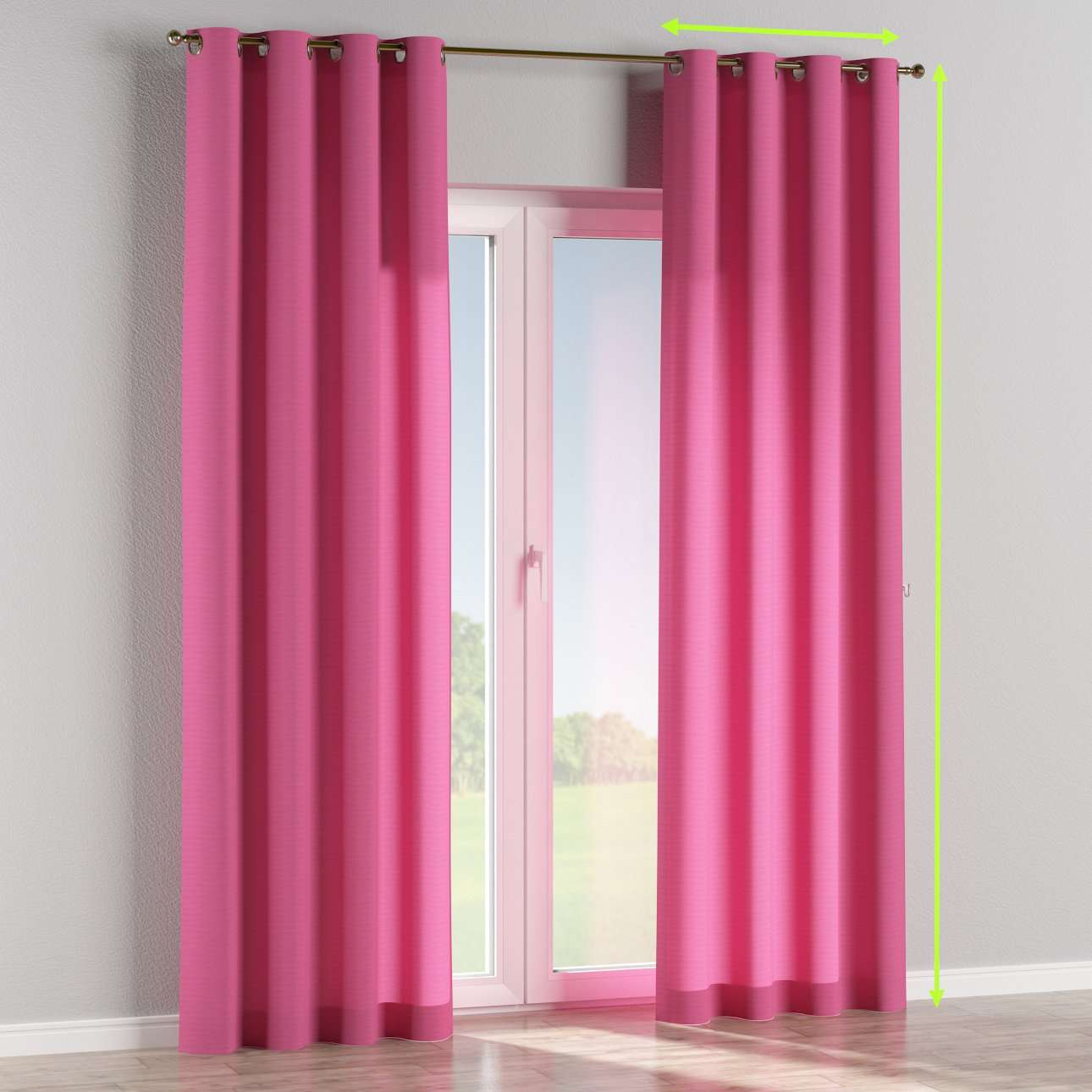 Eyelet curtains in collection Jupiter, fabric: 127-24