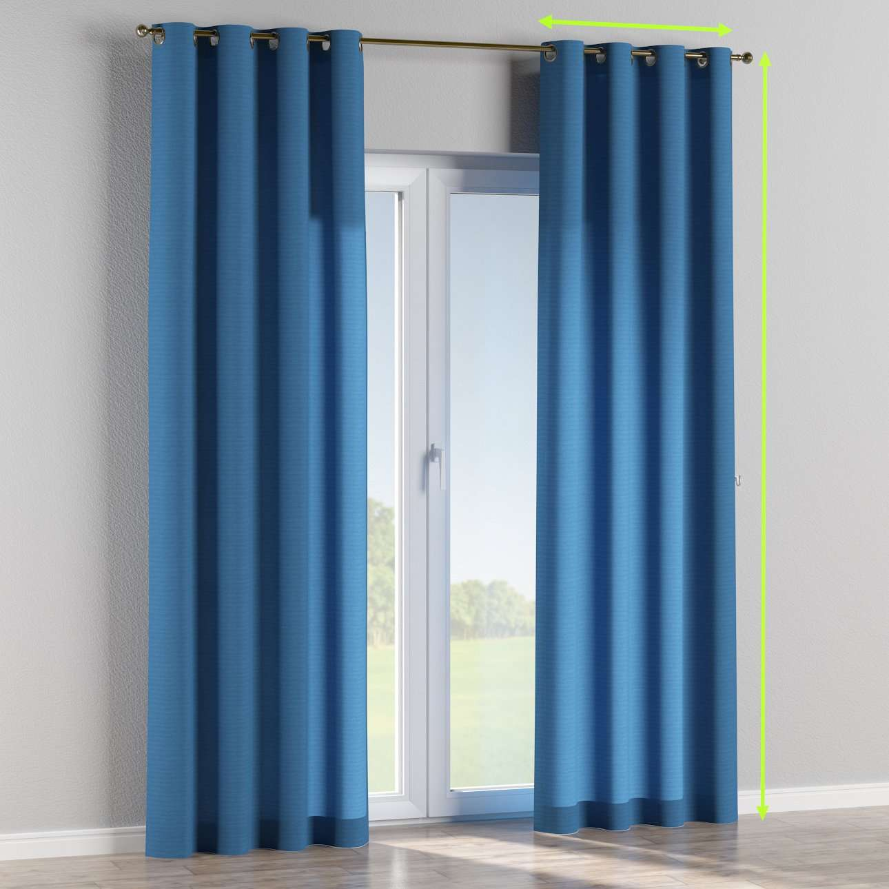 Eyelet curtains in collection Jupiter, fabric: 127-61