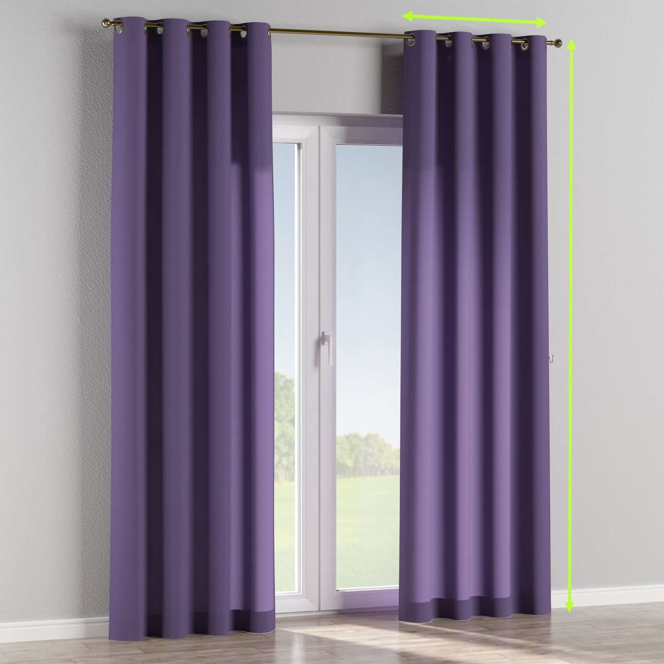Eyelet curtains in collection Jupiter, fabric: 127-75
