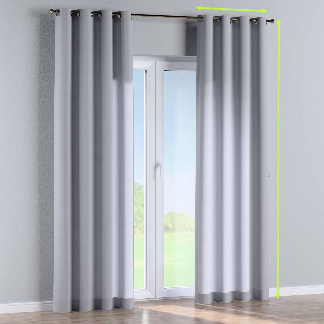 Eyelet curtains in collection Jupiter, fabric: 127-92