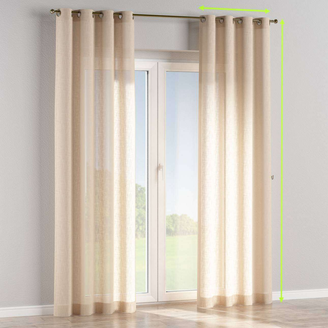 Eyelet curtains in collection Romantica, fabric: 128-01