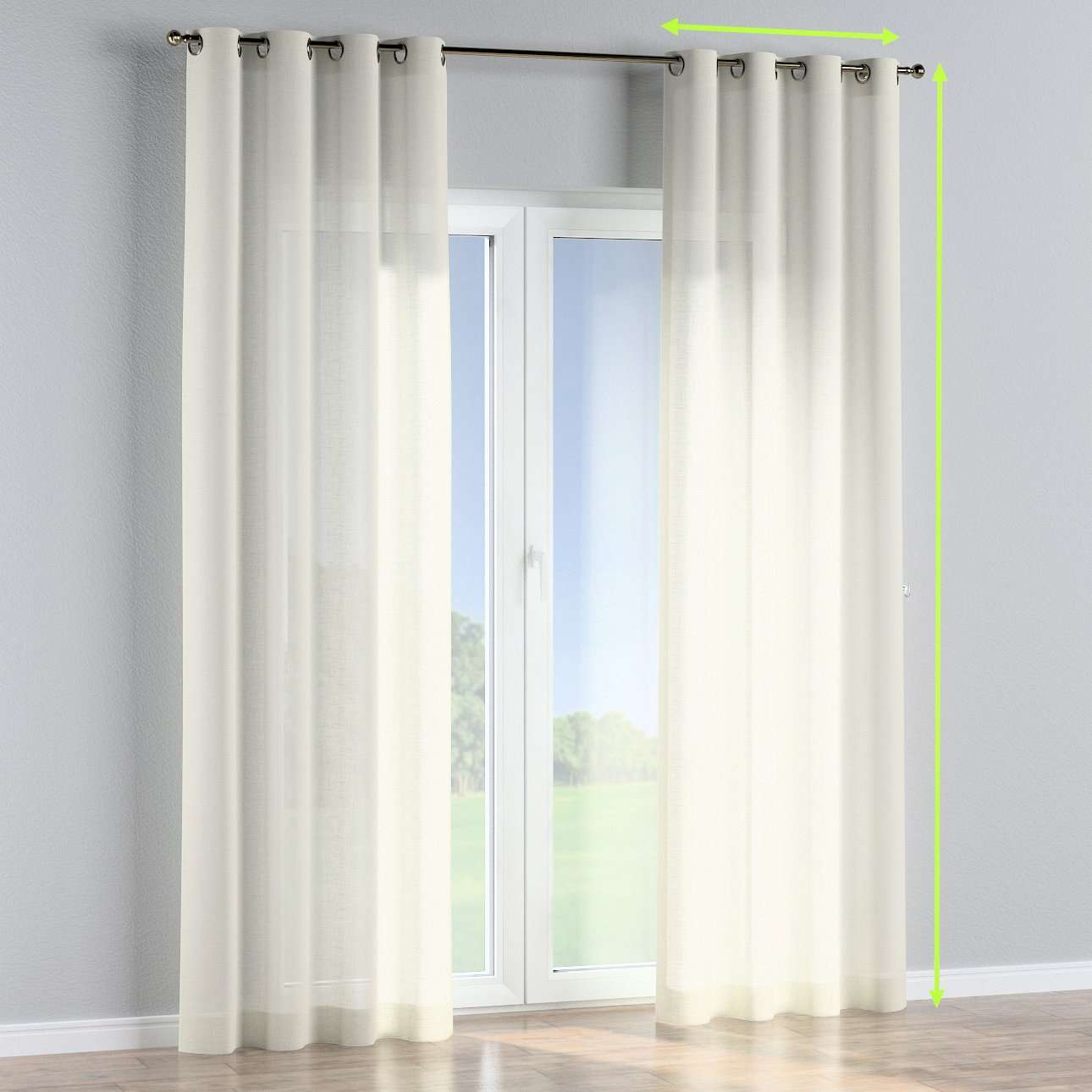Eyelet curtains in collection Romantica, fabric: 128-88