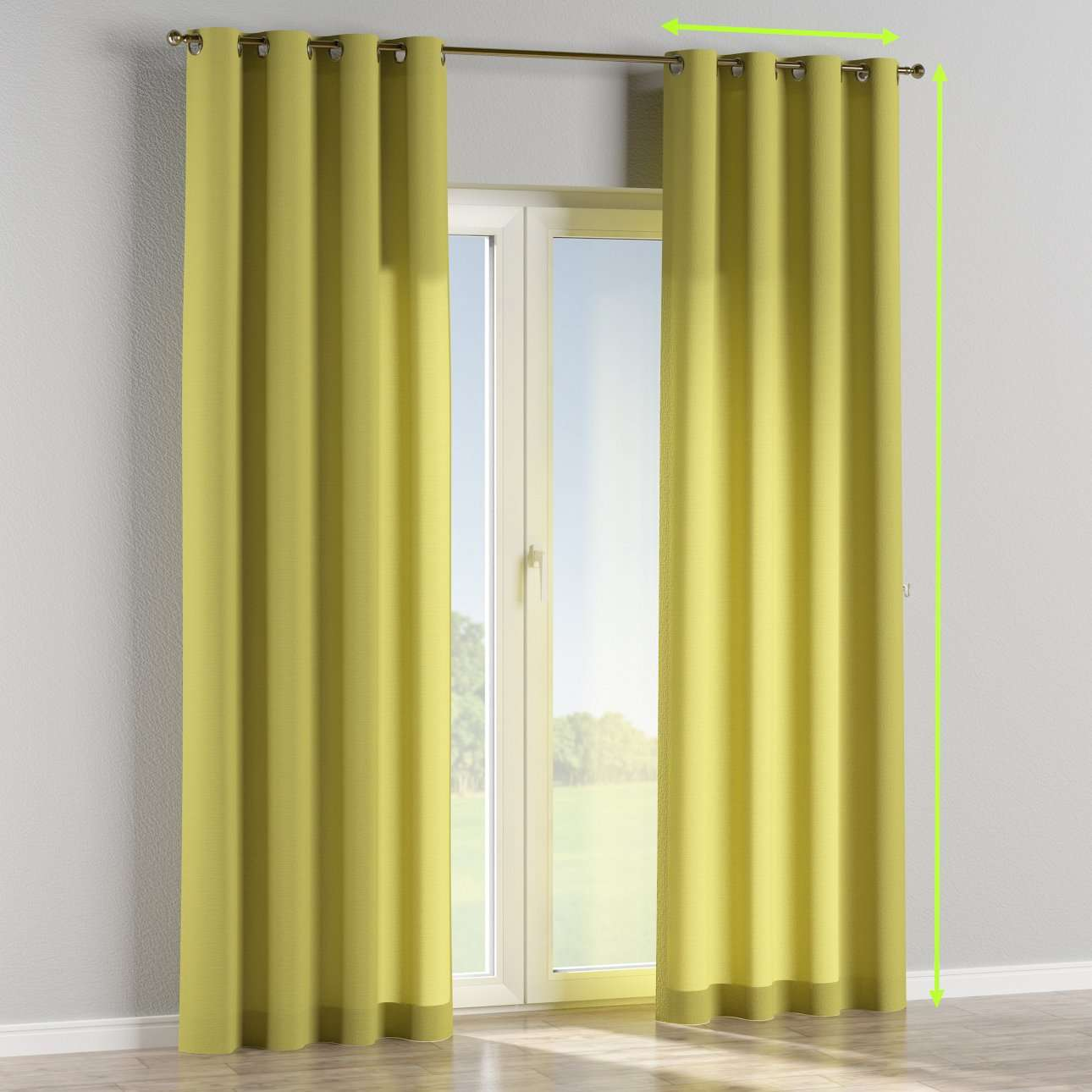 Eyelet curtains in collection Loneta , fabric: 133-23