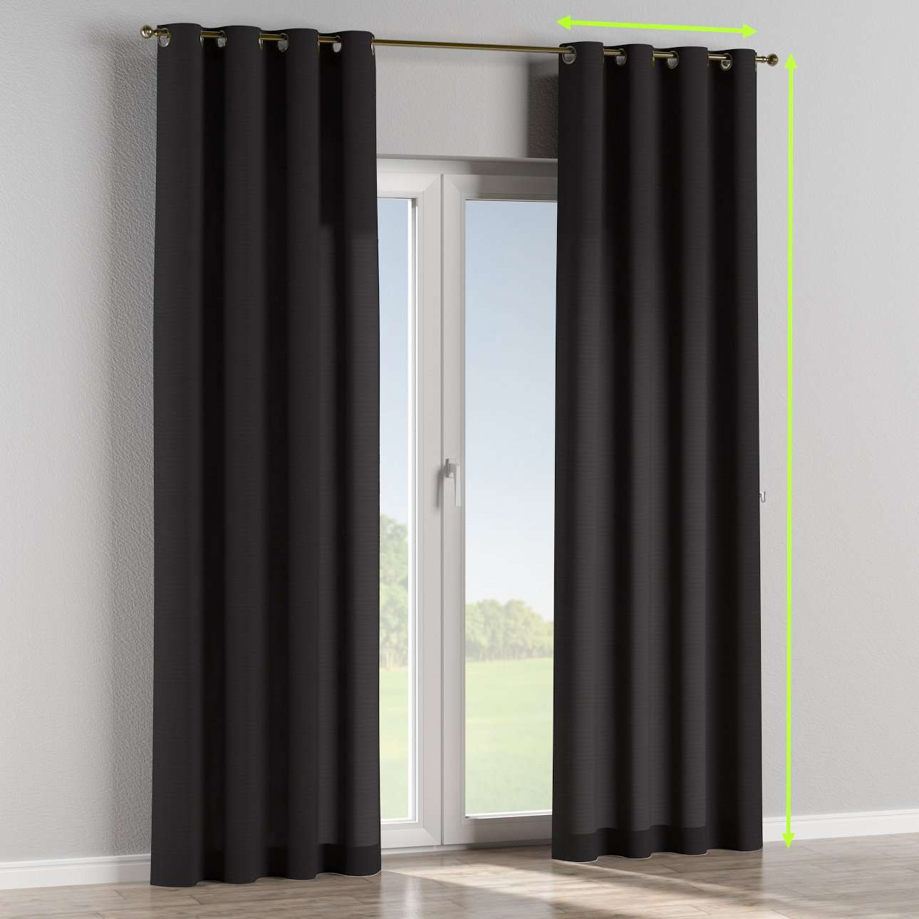 Eyelet curtains in collection Loneta , fabric: 133-99