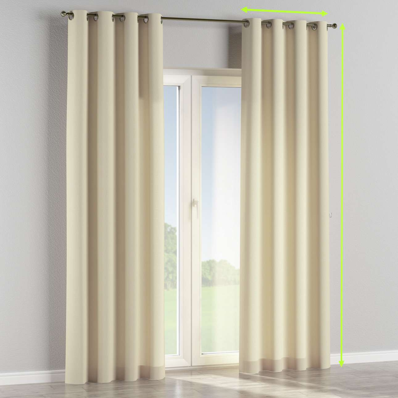 Eyelet curtain in collection Chenille, fabric: 702-22
