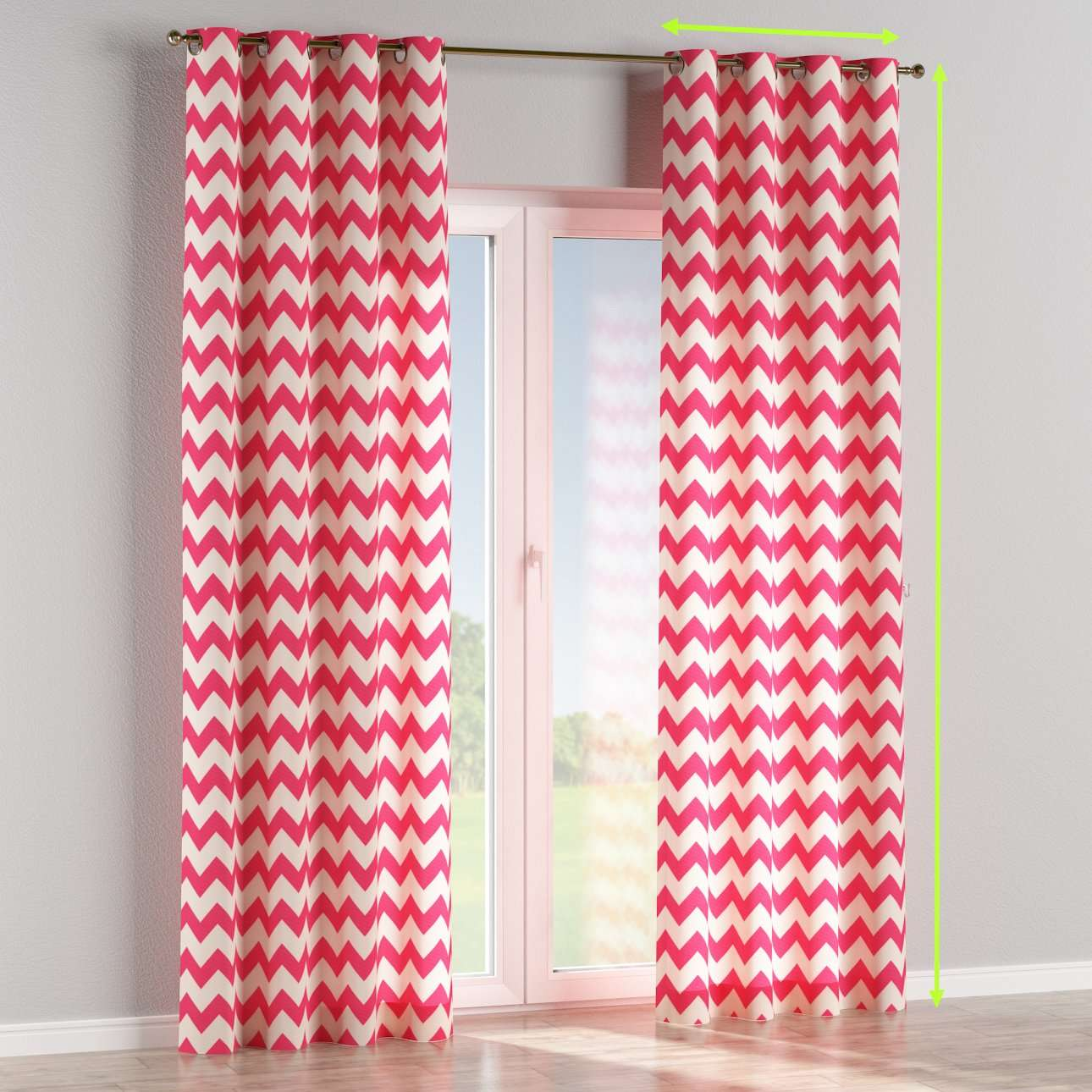 Eyelet curtains in collection Comic Book & Geo Prints, fabric: 135-00