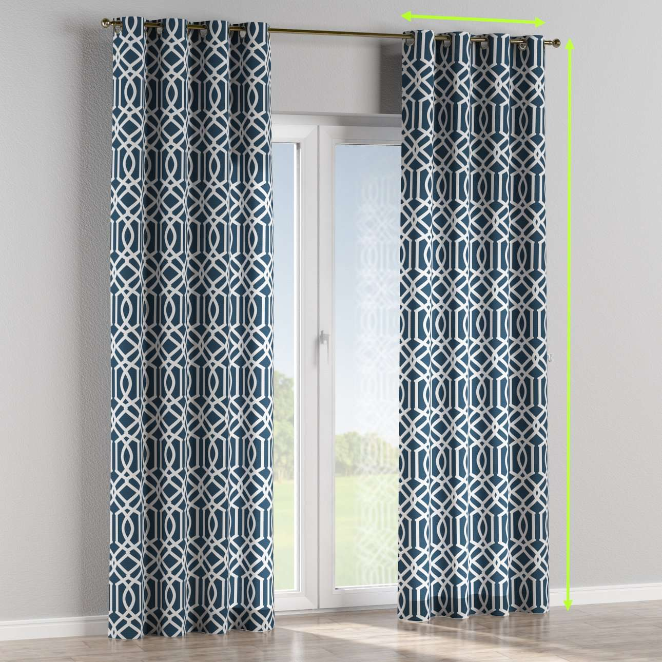 Eyelet curtains in collection Comic Book & Geo Prints, fabric: 135-10