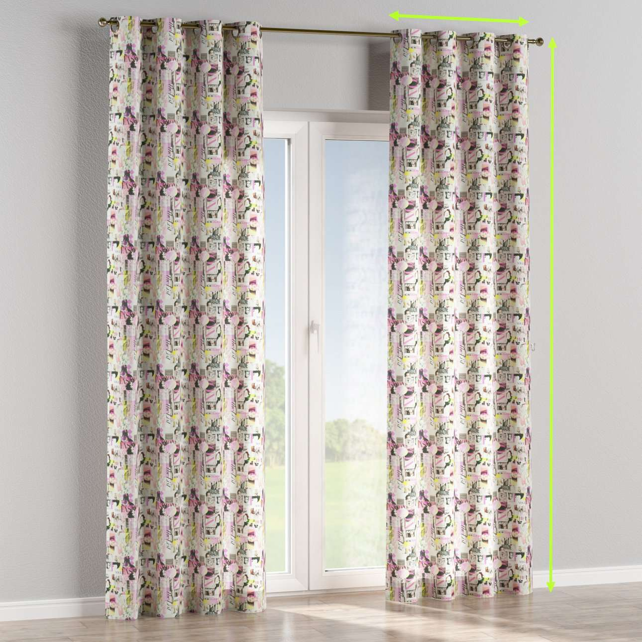 Eyelet curtains in collection Freestyle, fabric: 135-15