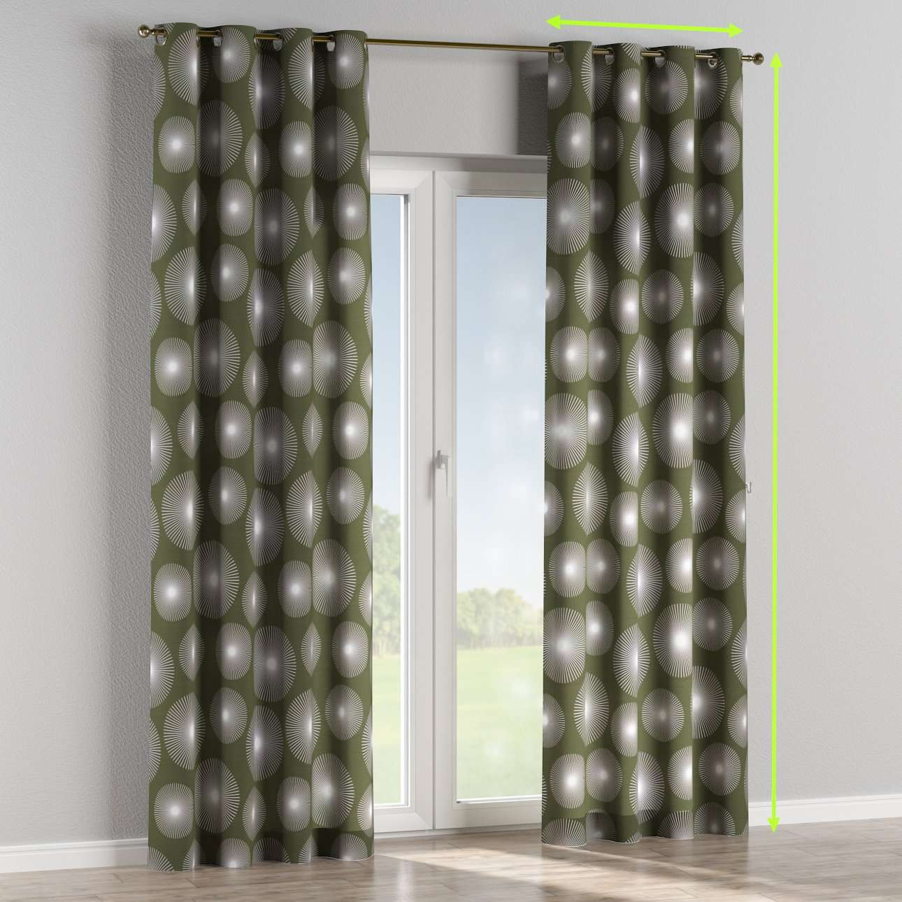 Eyelet curtains in collection Freestyle, fabric: 135-17