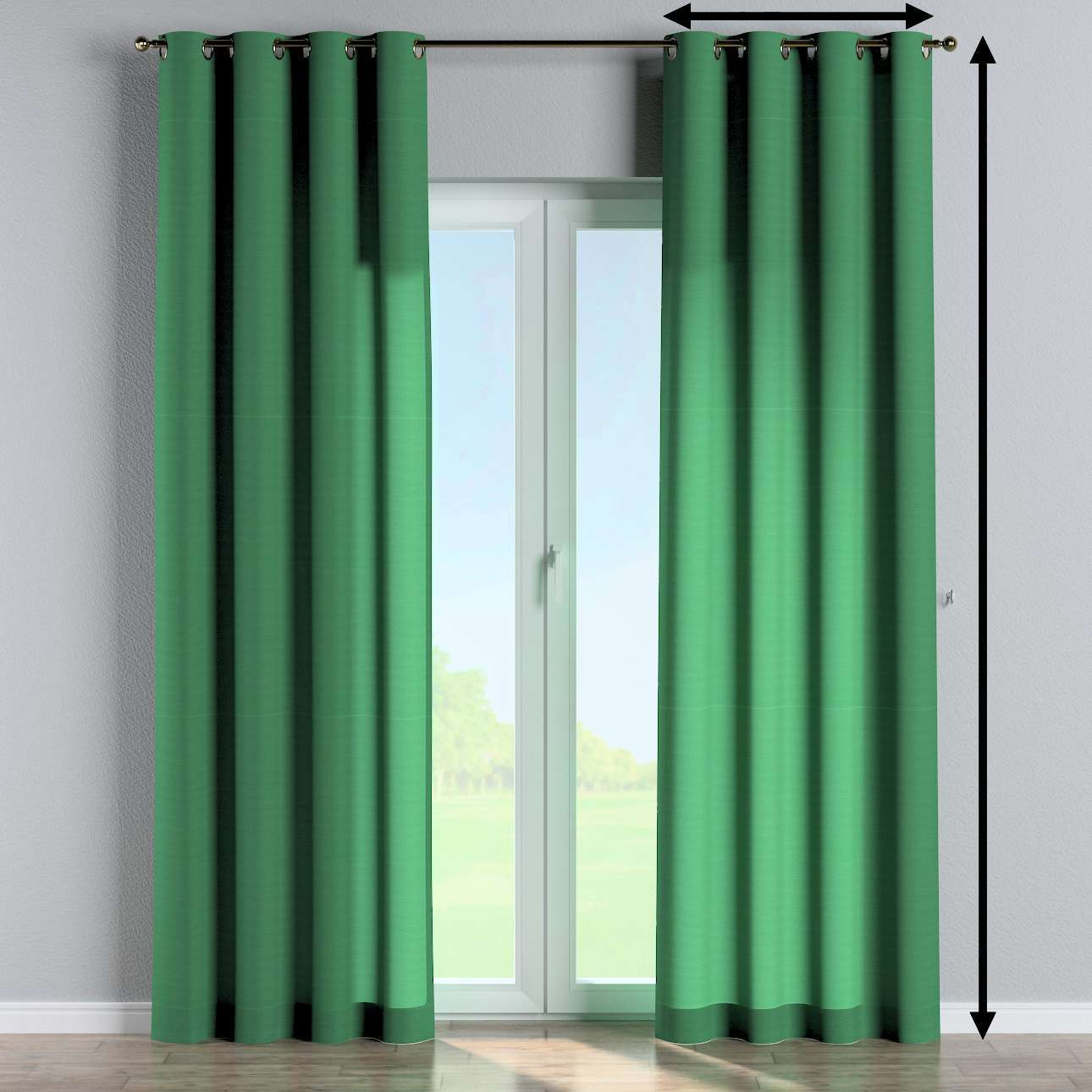 Eyelet curtains in collection Loneta , fabric: 133-18