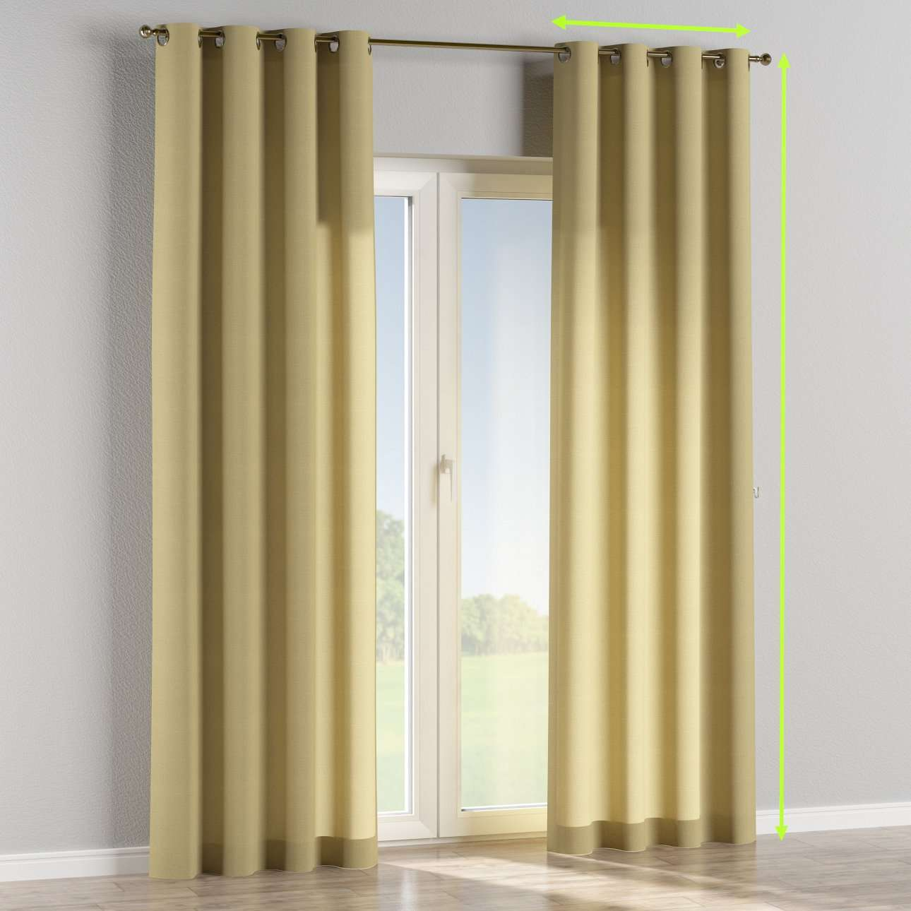 Eyelet curtains in collection Cardiff, fabric: 136-22