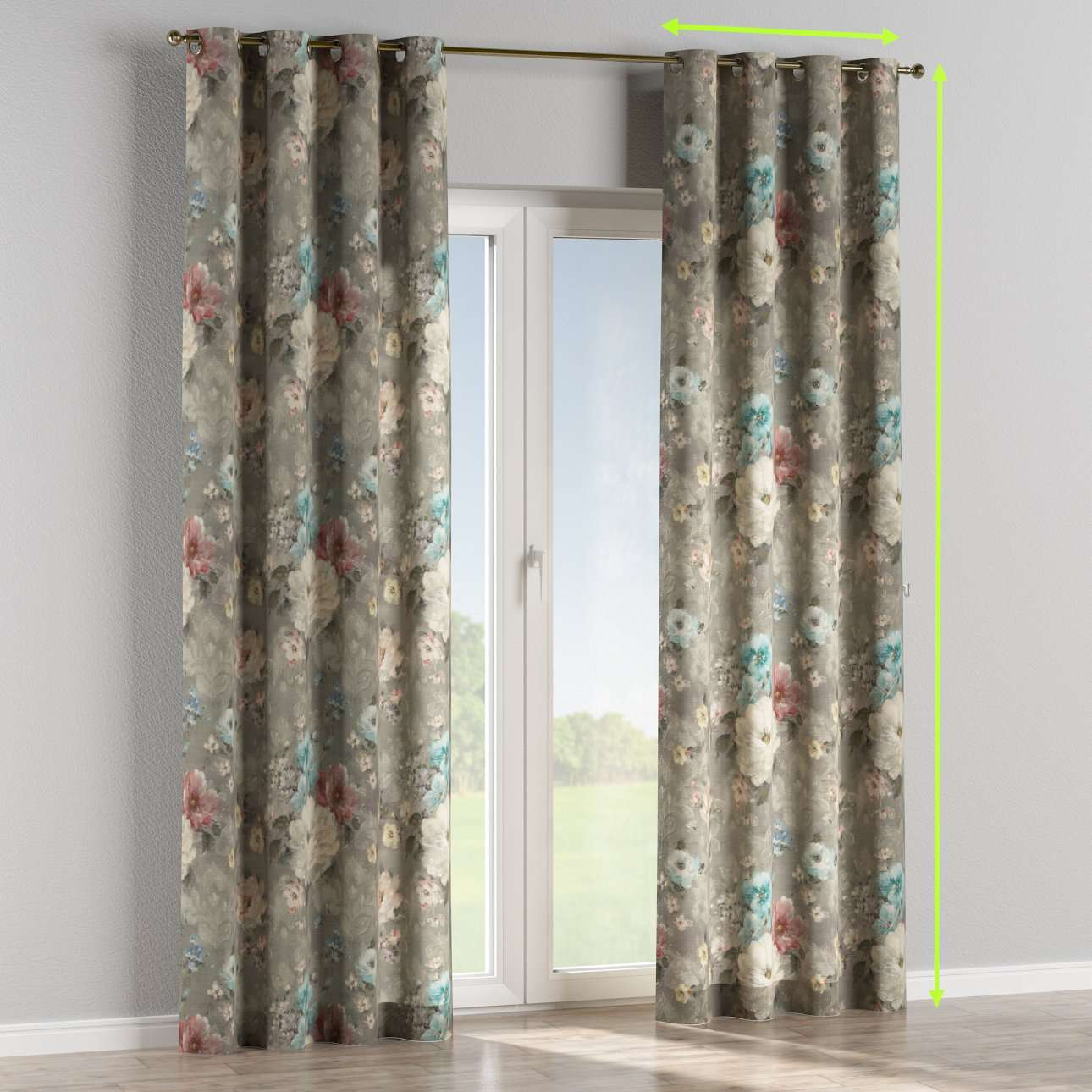 Eyelet curtains in collection Monet, fabric: 137-81