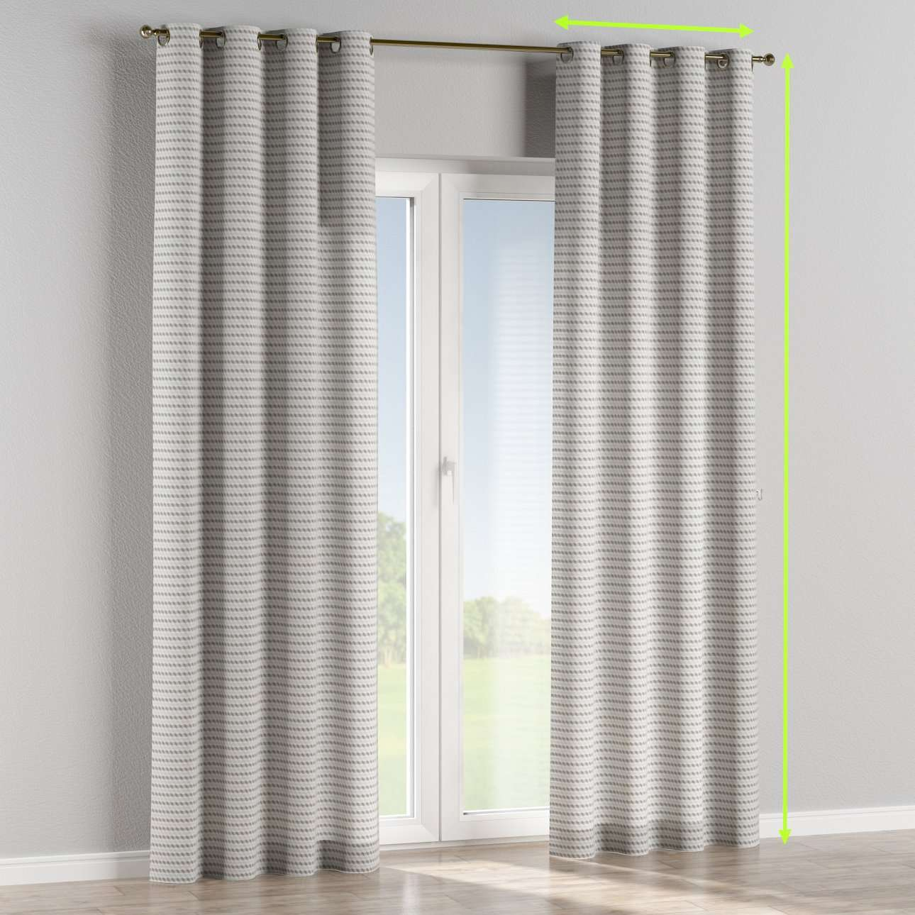 Eyelet curtains in collection Rustica, fabric: 140-33