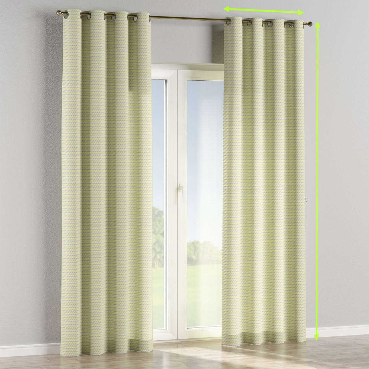 Eyelet curtains in collection Rustica, fabric: 140-36