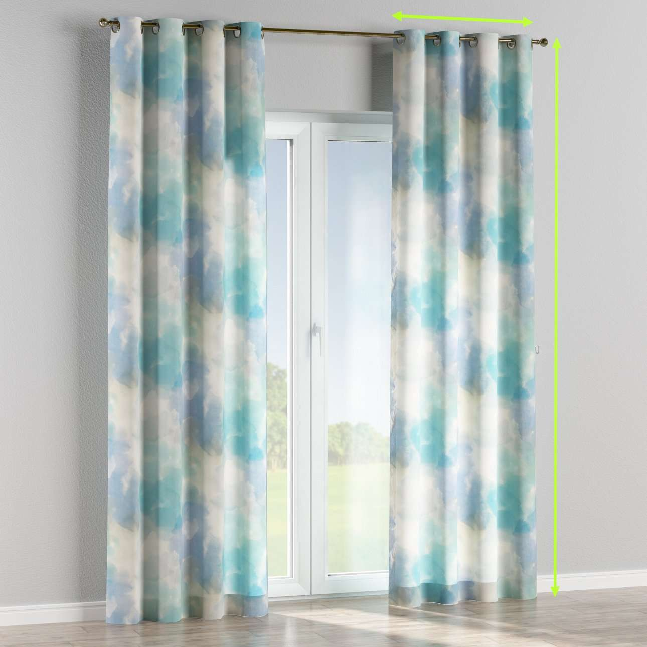 Eyelet curtains in collection Aquarelle, fabric: 140-67