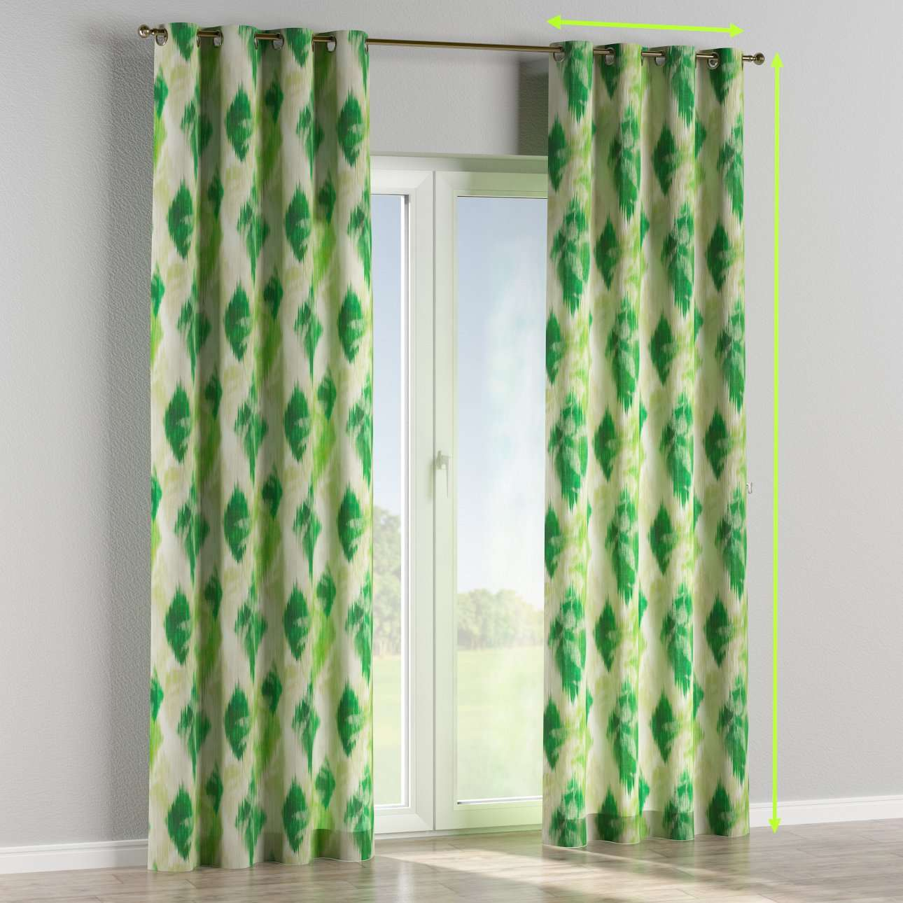 Eyelet curtains in collection Aquarelle, fabric: 140-70