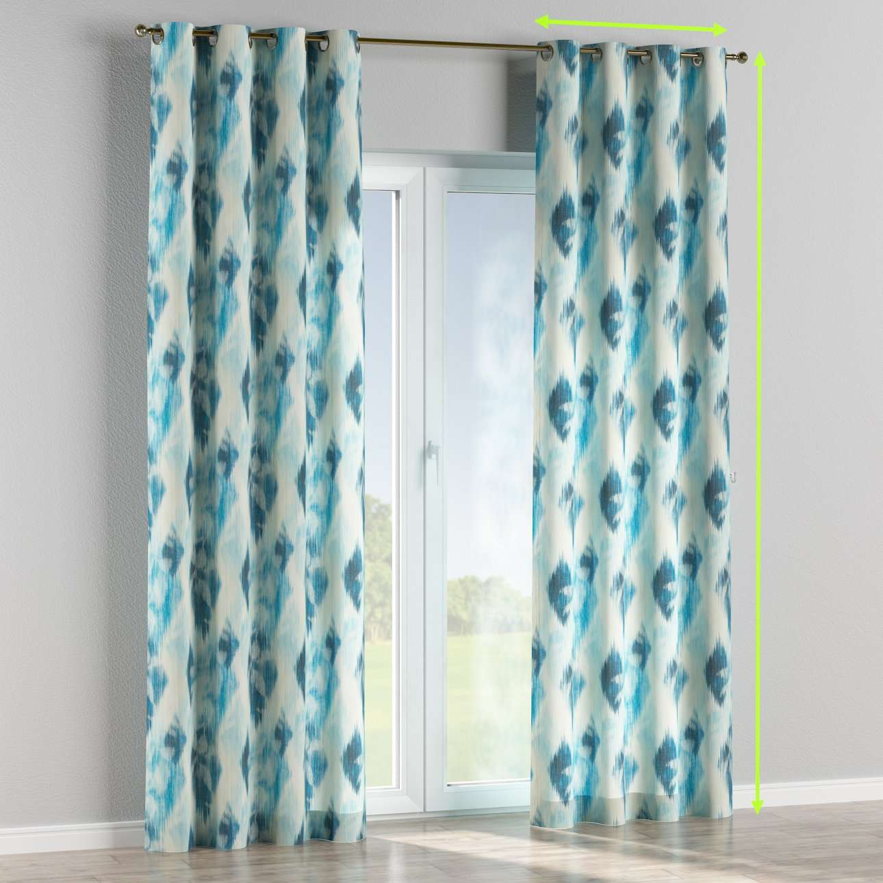 Eyelet curtains in collection Aquarelle, fabric: 140-71
