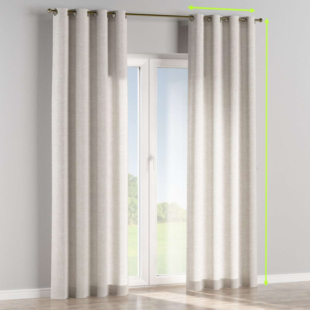 Eyelet curtains in collection Aquarelle, fabric: 140-75