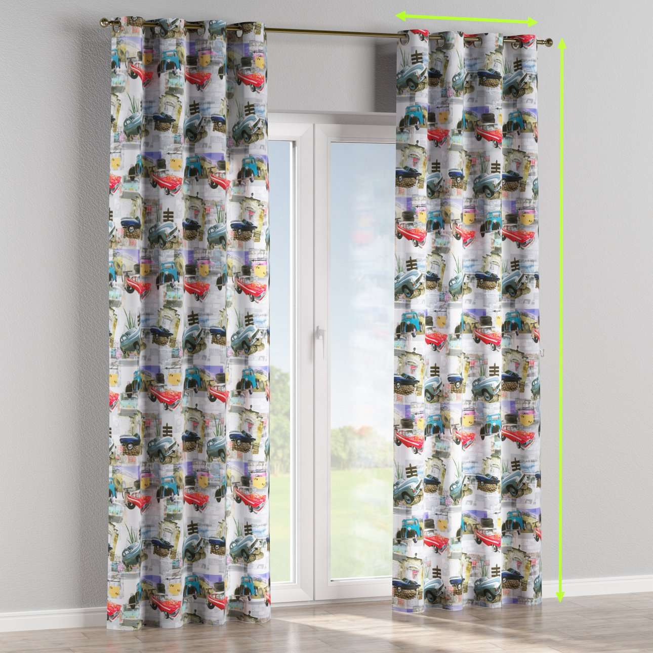 Eyelet curtains in collection Freestyle, fabric: 140-91