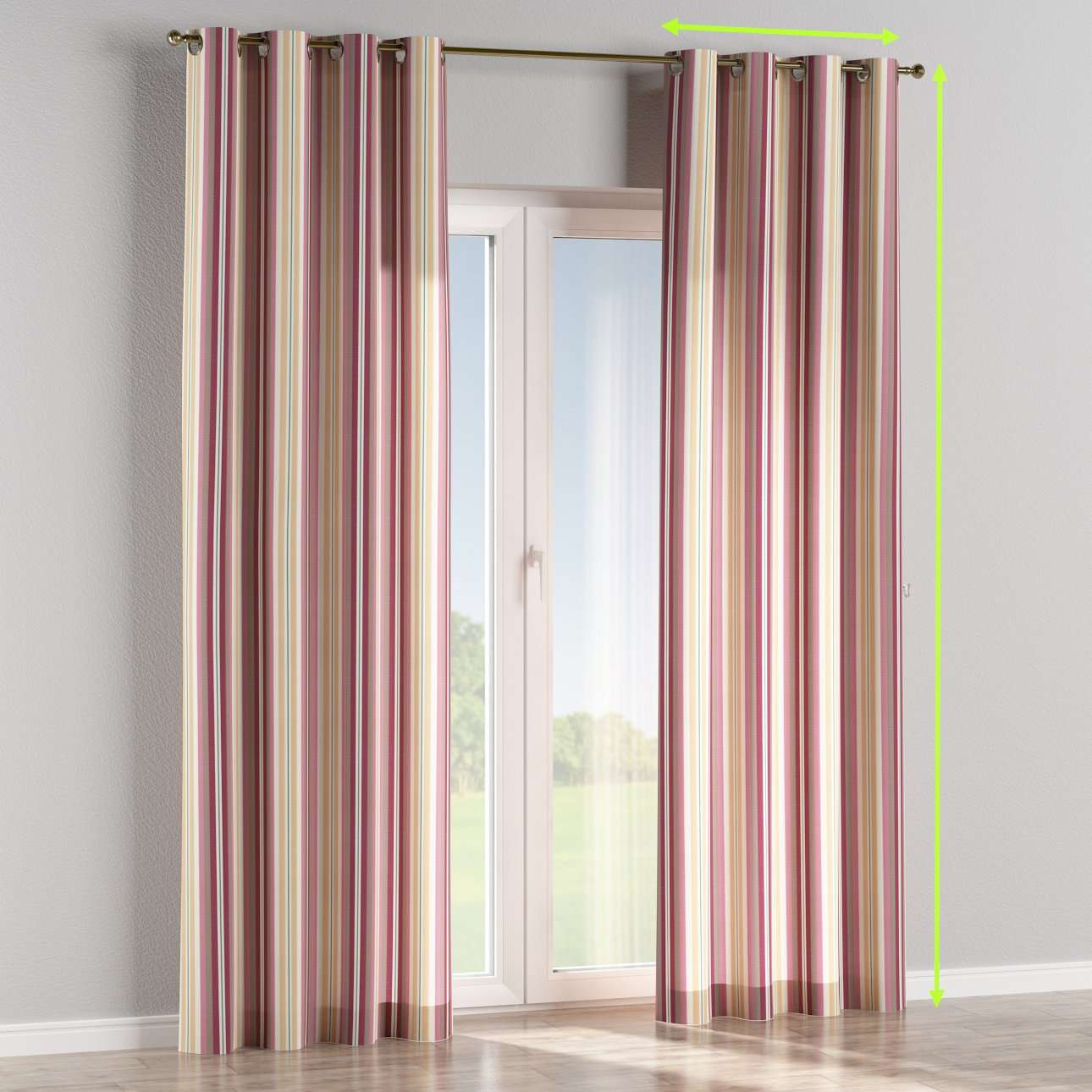 Eyelet curtains in collection Mirella, fabric: 141-14
