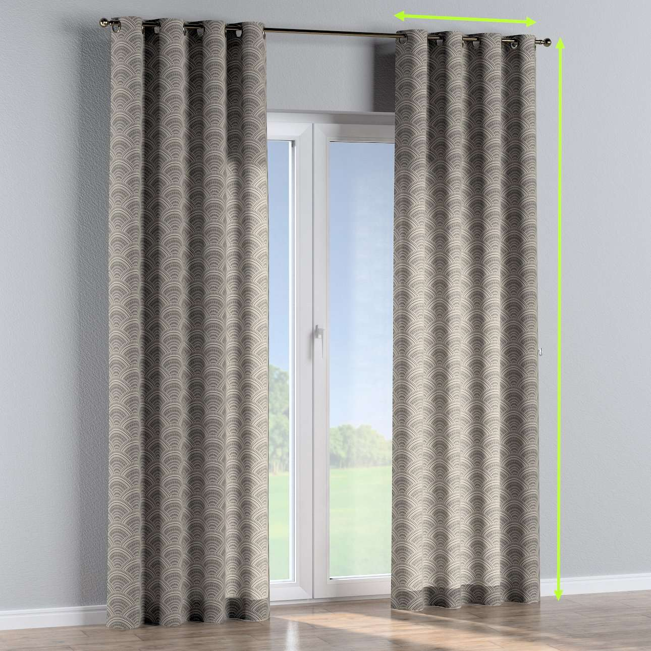 Eyelet curtains in collection Comic Book & Geo Prints, fabric: 141-19