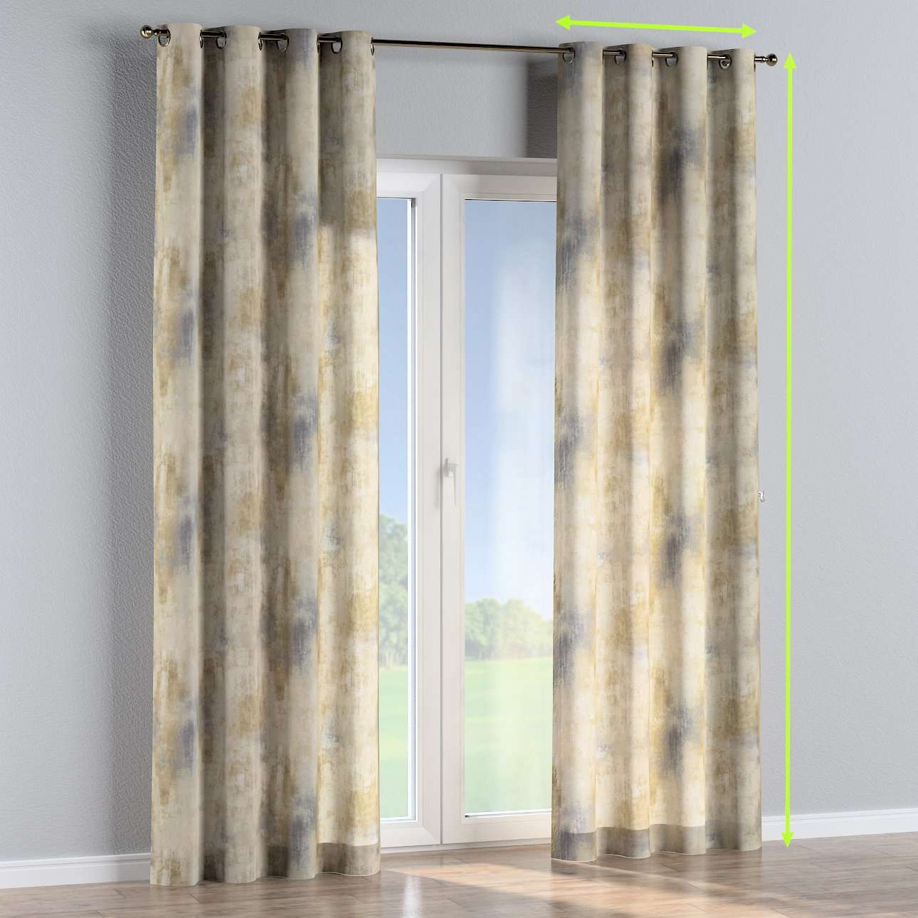 Eyelet curtains in collection Urban Jungle, fabric: 141-23