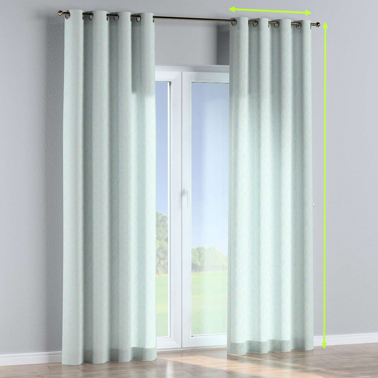 Eyelet curtains in collection Comics/Geometrical, fabric: 141-24