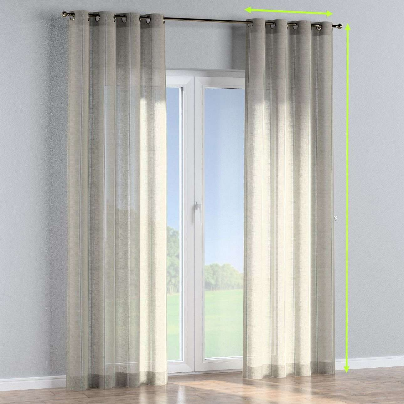 Eyelet curtains in collection Romantica, fabric: 141-32
