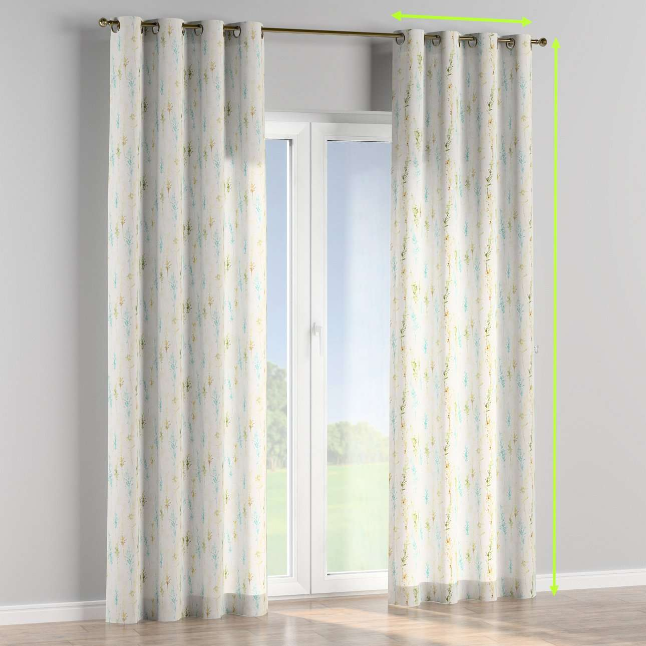 Eyelet curtains in collection Acapulco, fabric: 141-38