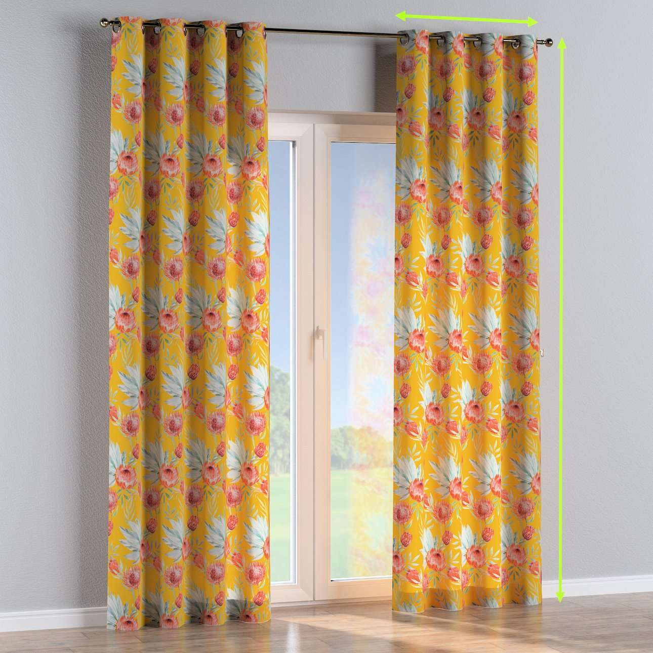 Eyelet curtains in collection New Art, fabric: 141-58