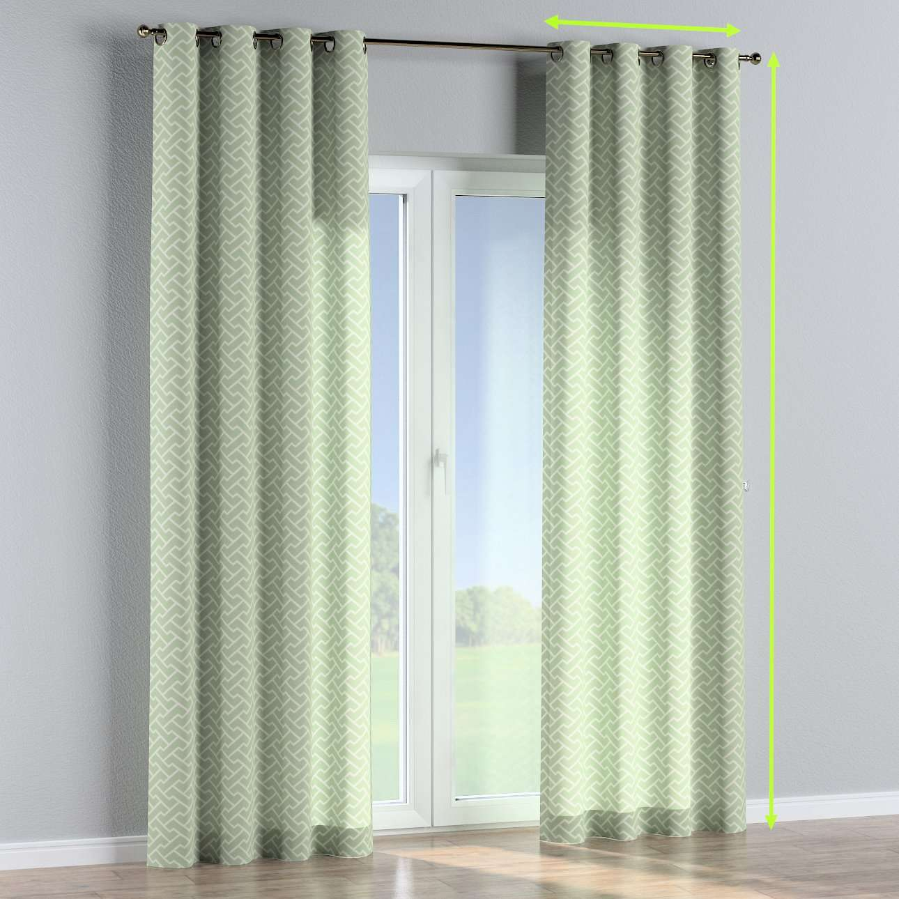 Eyelet curtains in collection Comic Book & Geo Prints, fabric: 141-63