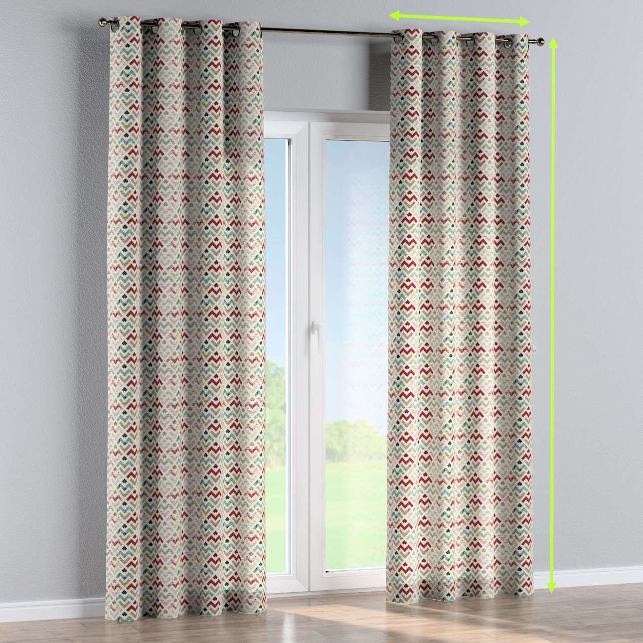 Eyelet curtains in collection Modern, fabric: 141-94