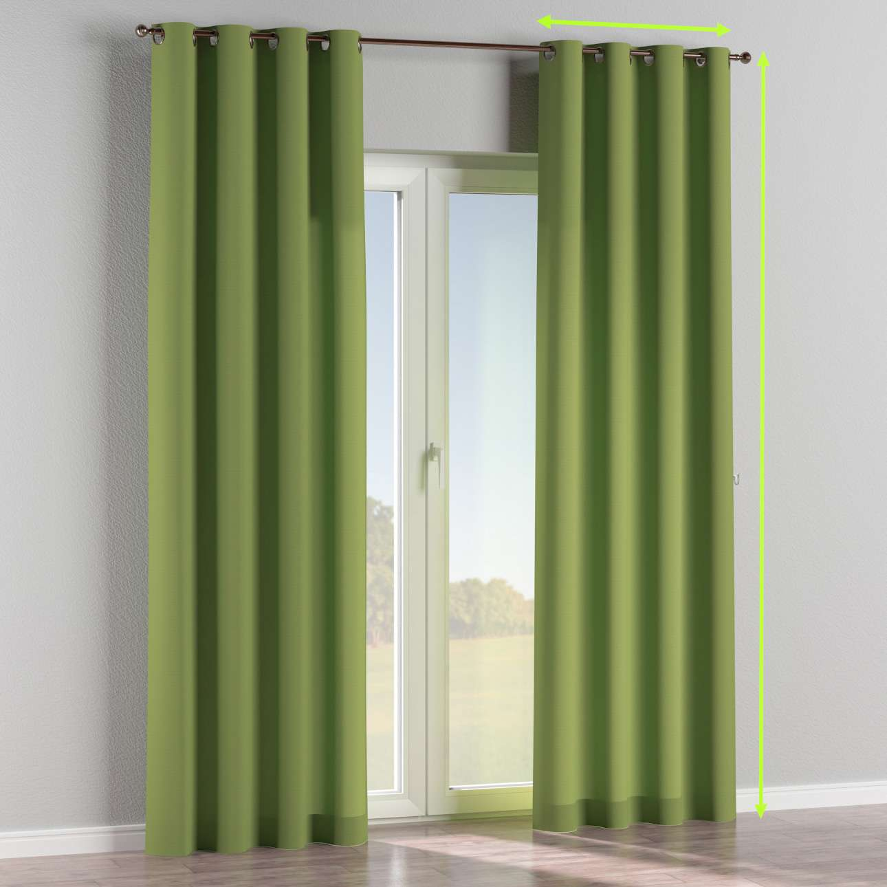 Eyelet curtains in collection Panama Cotton, fabric: 702-27