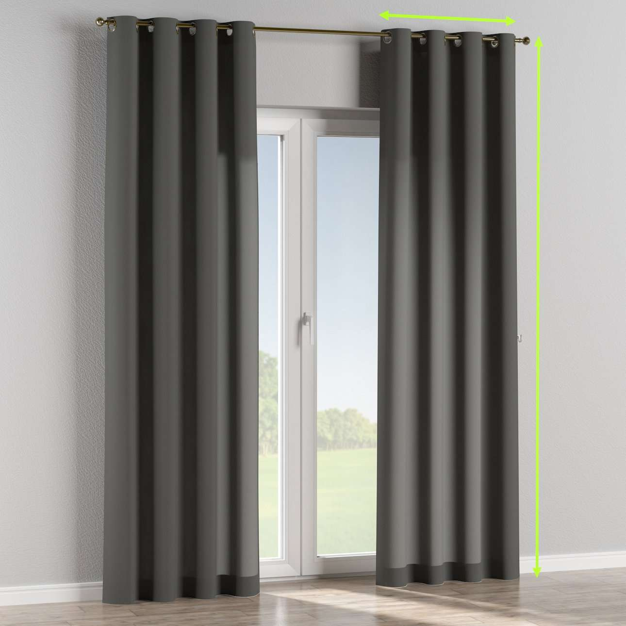 Eyelet curtain in collection Quadro, fabric: 136-14