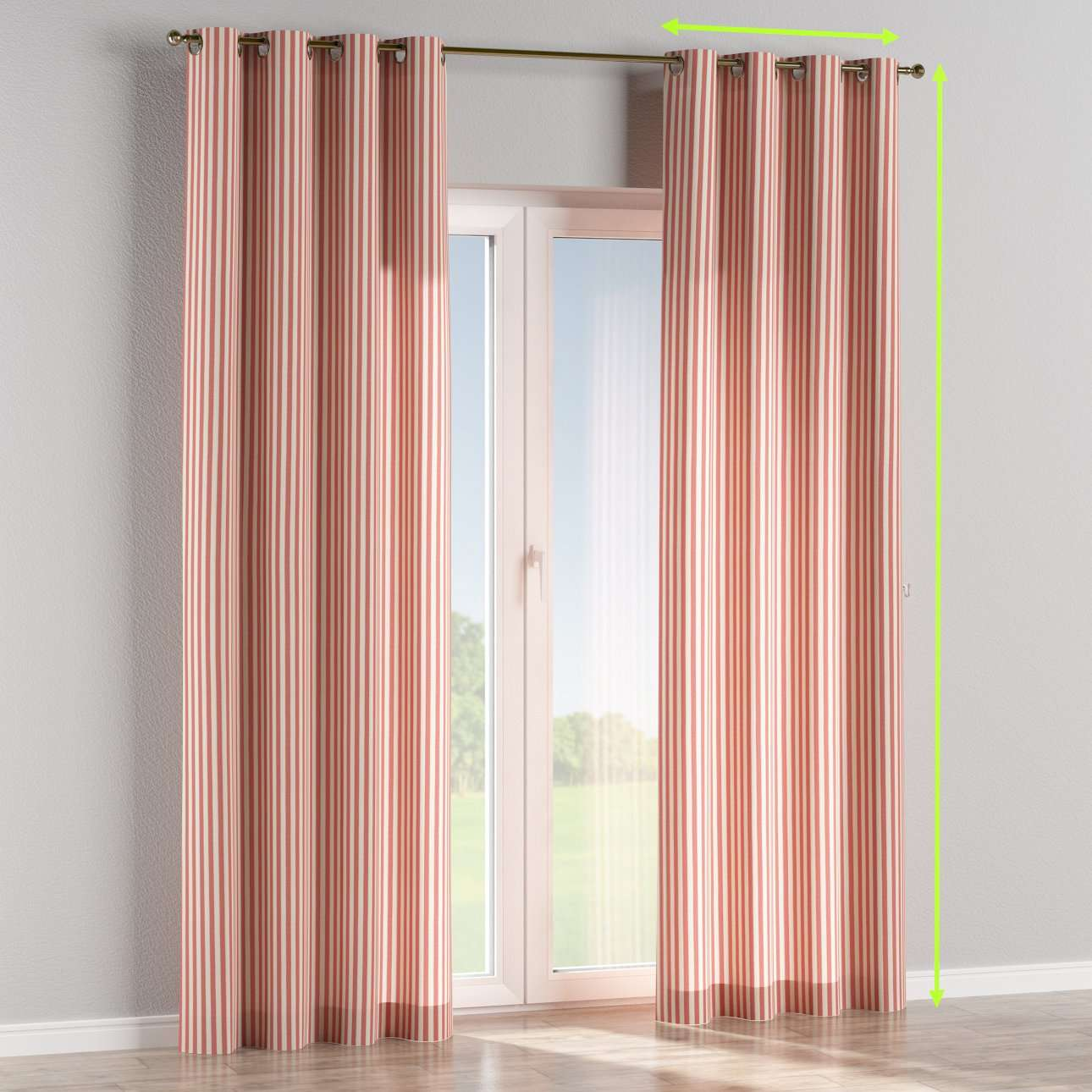 Eyelet curtain in collection Quadro, fabric: 136-17