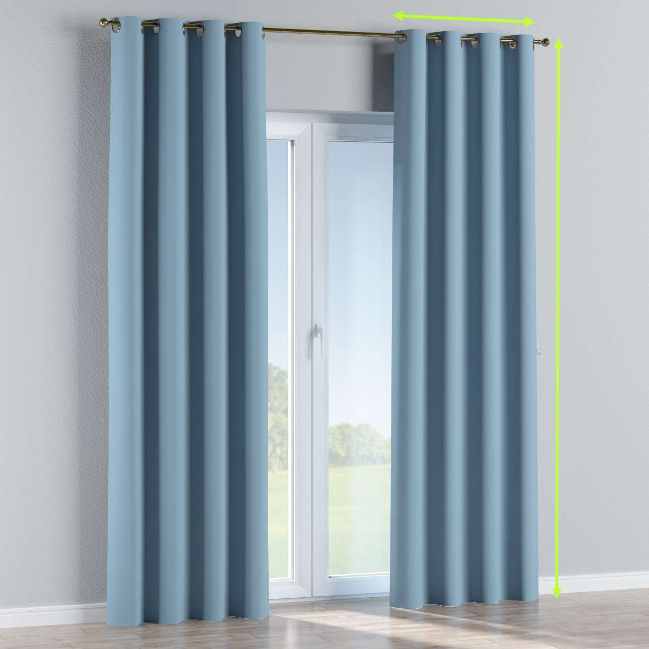 Eyelet curtain in collection Blackout, fabric: 269-08