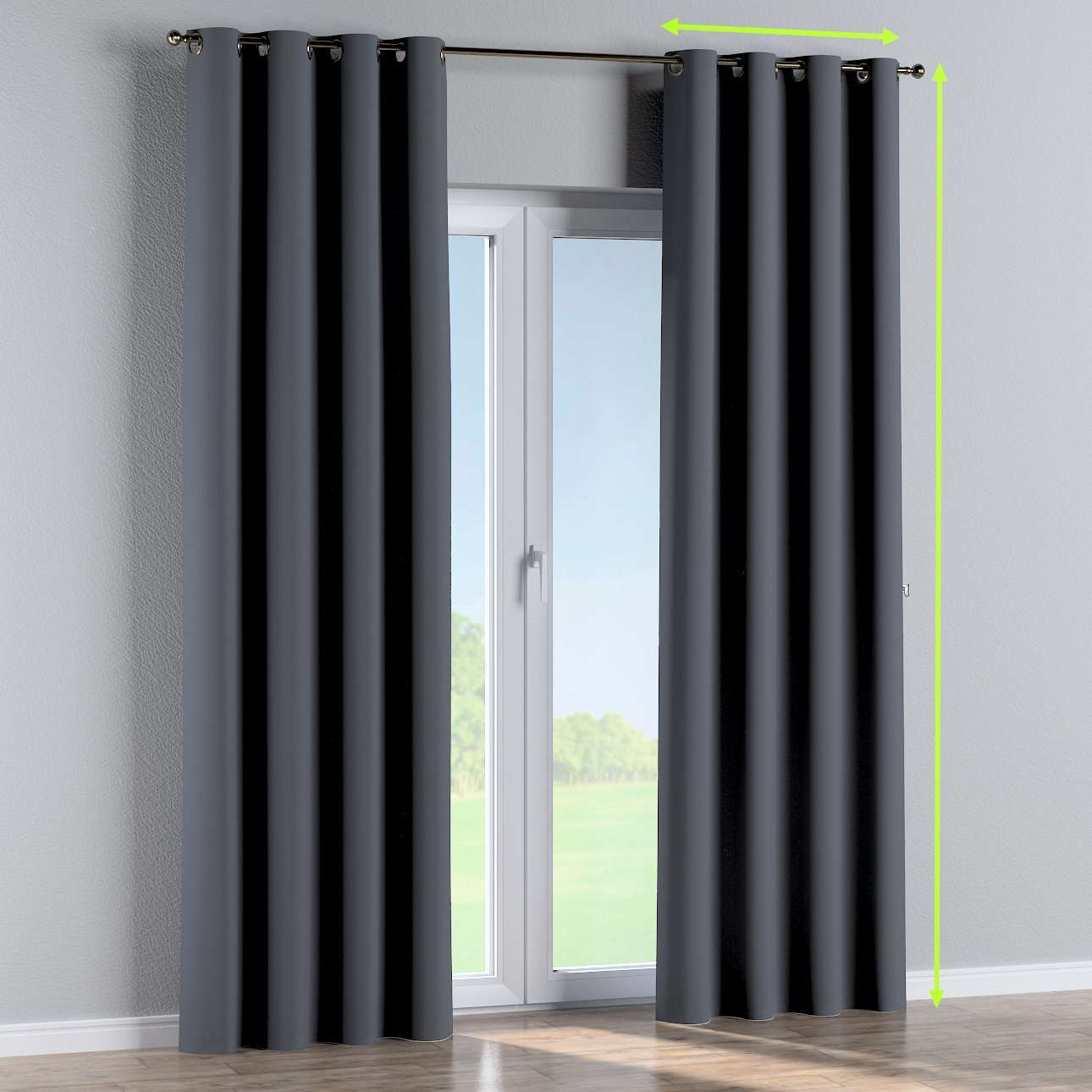 Eyelet curtain in collection Blackout, fabric: 269-76