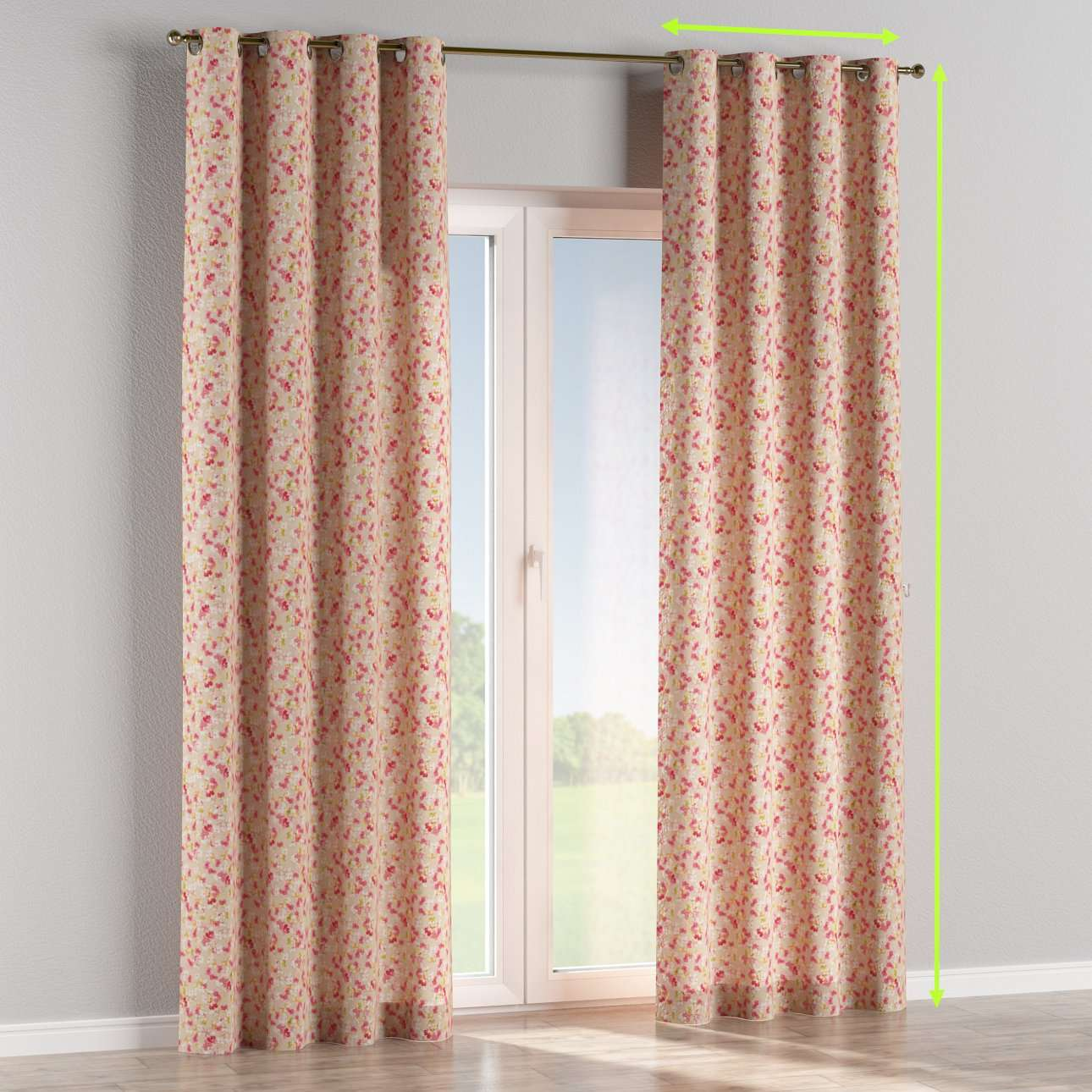 Eyelet curtains in collection Londres, fabric: 140-47