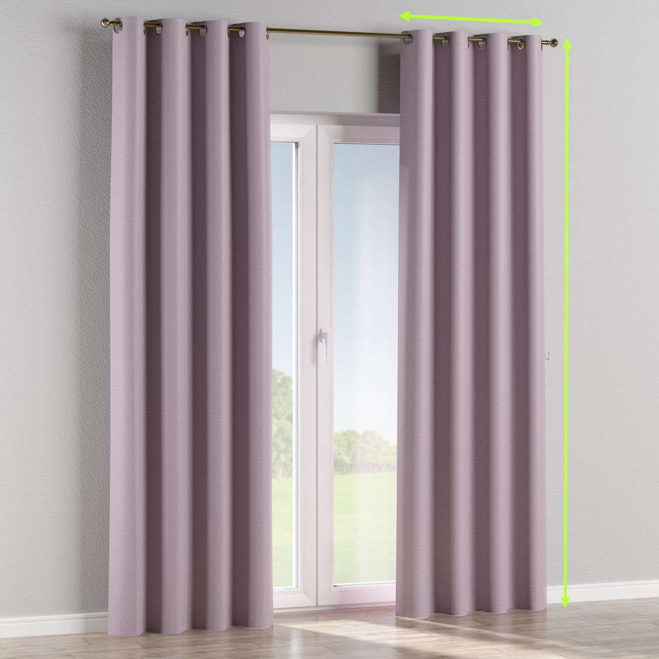 Eyelet curtain in collection Blackout, fabric: 269-60