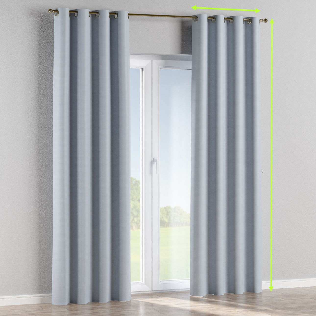 Eyelet curtains in collection Blackout, fabric: 269-62