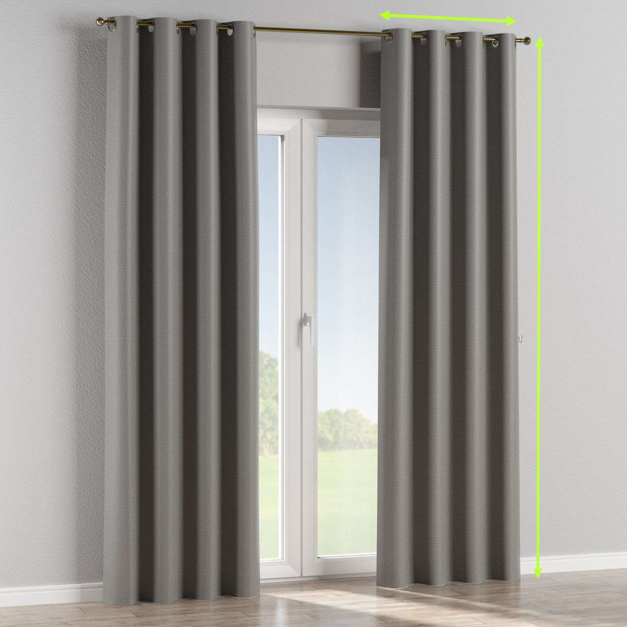 Eyelet curtain in collection Blackout, fabric: 269-63