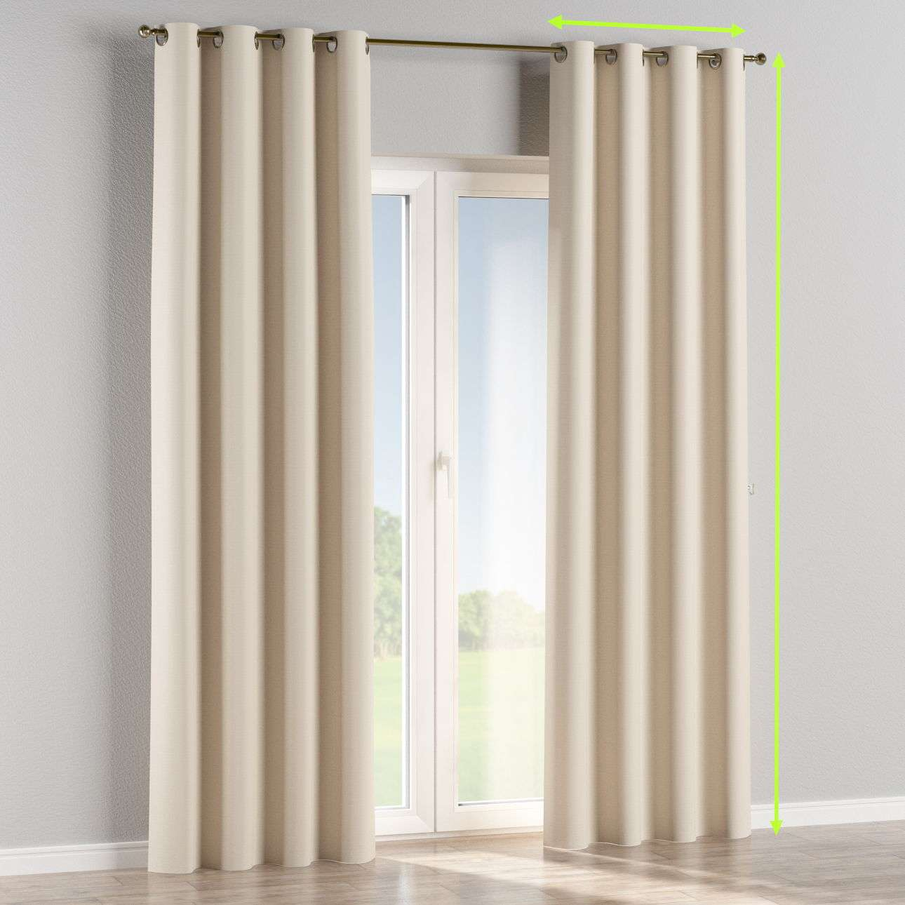 Eyelet curtain in collection Blackout, fabric: 269-66