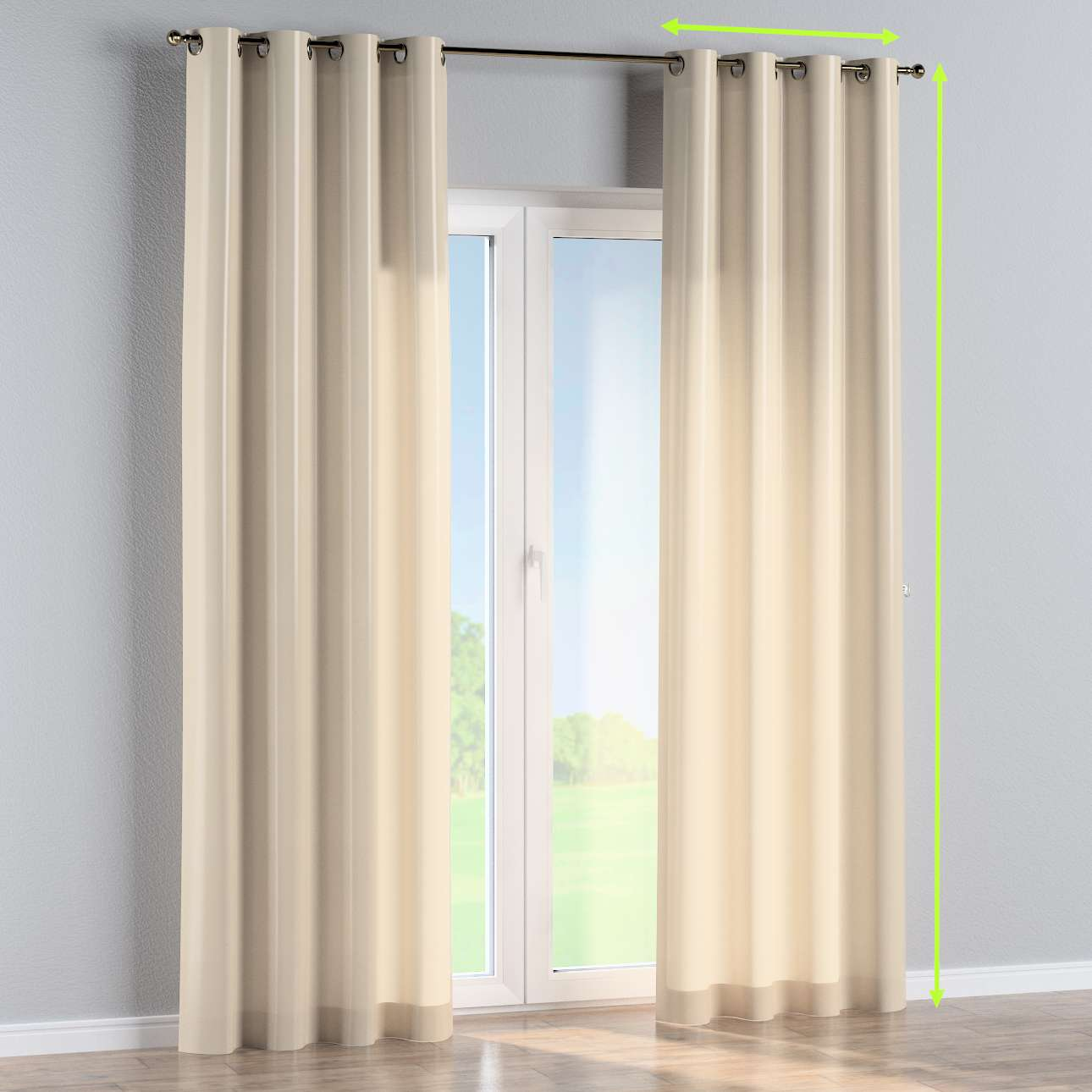 Eyelet curtain in collection Damasco, fabric: 141-73
